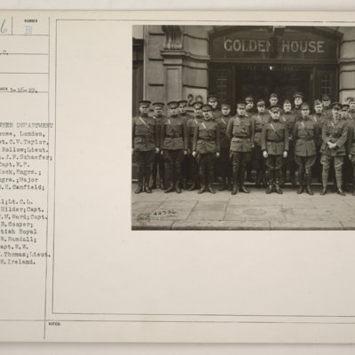Robert Burns Haldane Begg - Officers of Engineer Department outside Golden House London - copy.jpg