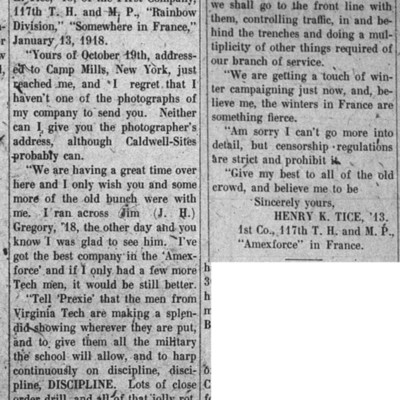 Letter from Henry Tice - The Virginia Tech - 14 February 1918.jpg