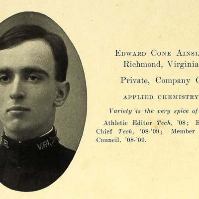Edward Cone Ainsle from the 1909 VPI Bugle.jpg