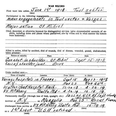 Excerpt - Leonard Myrton Gaines WW1 Questionairre.jpg