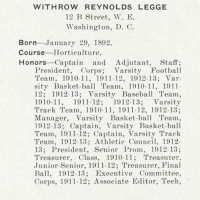 Withrow Reynolds Legge biography from the 1913 VPI Bugle.jpg