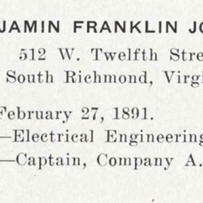 Benjamin Franklin Johnson biography from the 1913 VPI Bugle.jpg