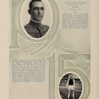 James Wayne France from the 1915 Bugle.jpg