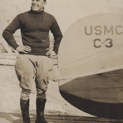 Lieutenant Bernard L. Smith, 1913 and a Curtiss C-3 from the Bernard Smith Collection (COLL1691), Marine Corps Archives and Special Collections.jpg
