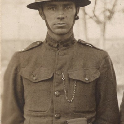 John M. Heath close up photograph from World War I - Officers of 108th Field Signal Battalion in the National Archives.jpg