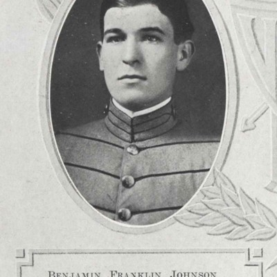 Benjamin Franklin Johnson senior portrait from the 1913 VPI Bugle.jpg