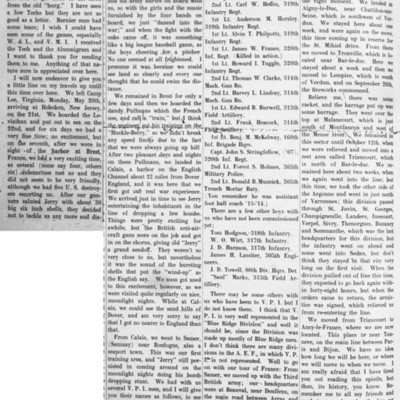 Letter from Clifford A. Cutchins published in The Virginia Tech newspaper, 6 February 1919.jpg